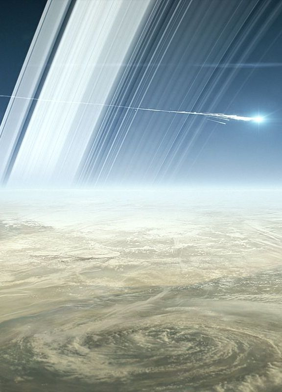 NASA crashed the $4 billion Cassini spacecraft into Saturn. It was awesome.
