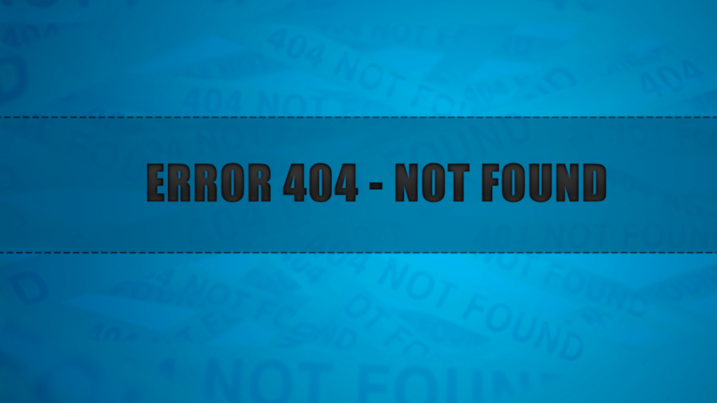How to Fix a 404 Not Found Error