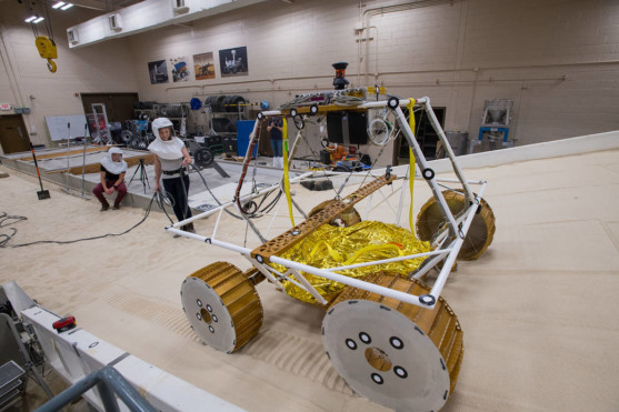 NASA's New Moon Rover Tested in Lunar Operations Lab